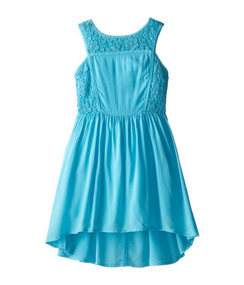 Ella Moss Girl - Primrose Crochet Dress (Little Kids) (Aqua) Girl
