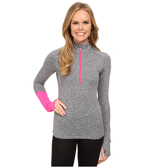 ASICS - Thermopolis 1/2 Zip (Dark Grey Heather/Dark Grey) Women's Workout