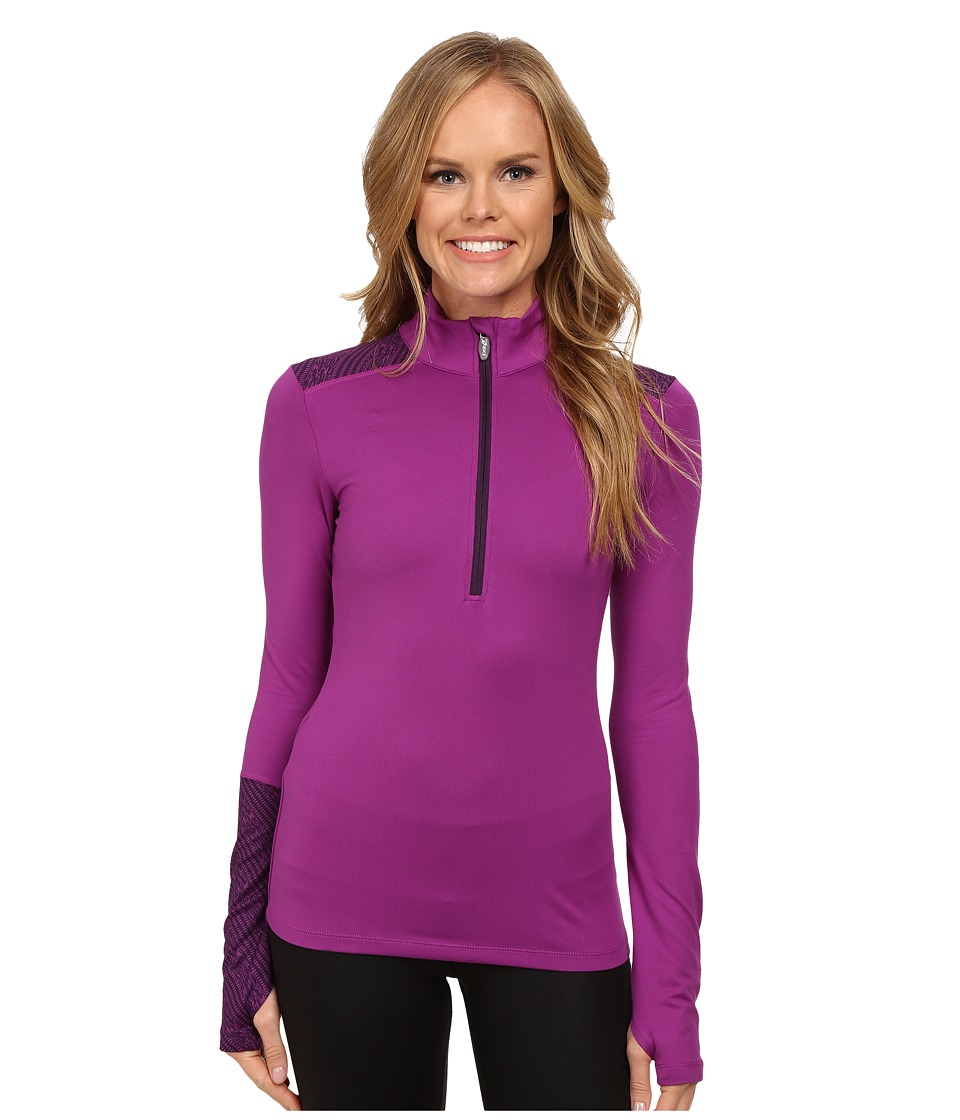 ASICS - Thermopolis 1/2 Zip (Byzantium/Blackberry Cordial) Women's Workout