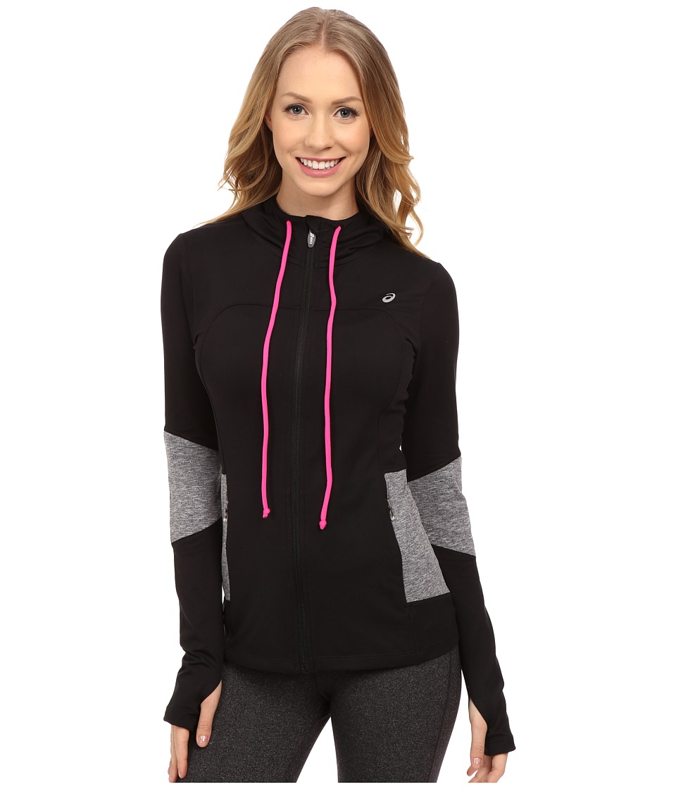 ASICS - Thermopolis Hoodie (Performance Black/Dark Grey Heather) Women's Sweatshirt