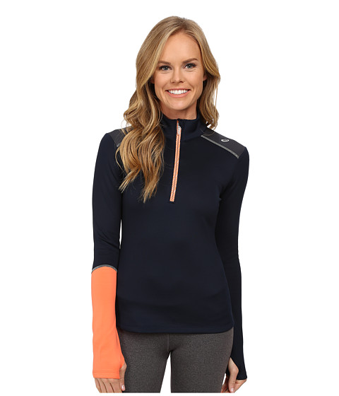 ASICS - Thermopolis XP 1/2 Zip (Dark Cobalt/Coral) Women