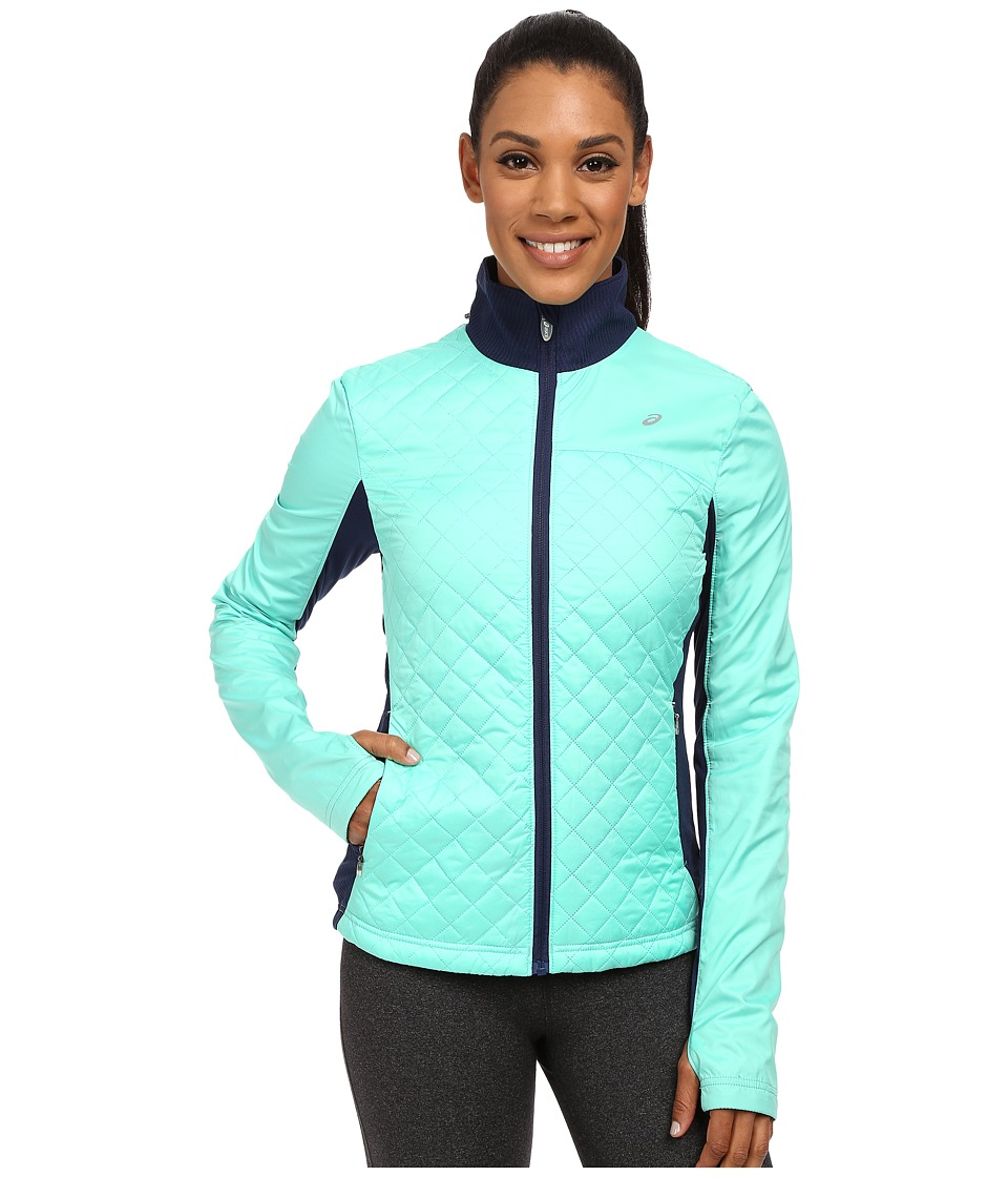 ASICS - Thermopolis Windblocker Jacket (Aqua Mint/Indigo Blue) Women's Workout