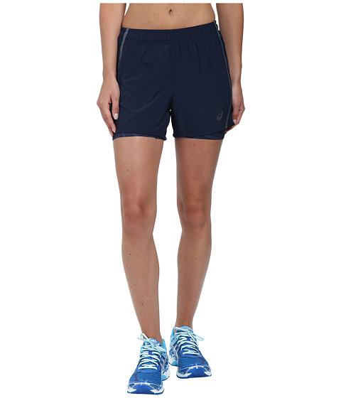ASICS - Lite-Show 3-N-1 Woven Short 4 (Dark Cobalt) Women's Workout
