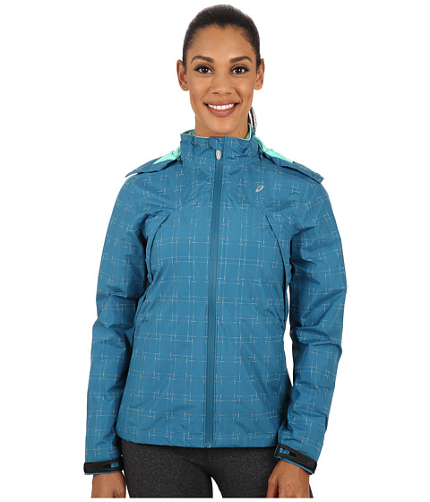 ASICS - Performance Run Storm Shelter Jacket (Mosaic Blue) Women's Coat