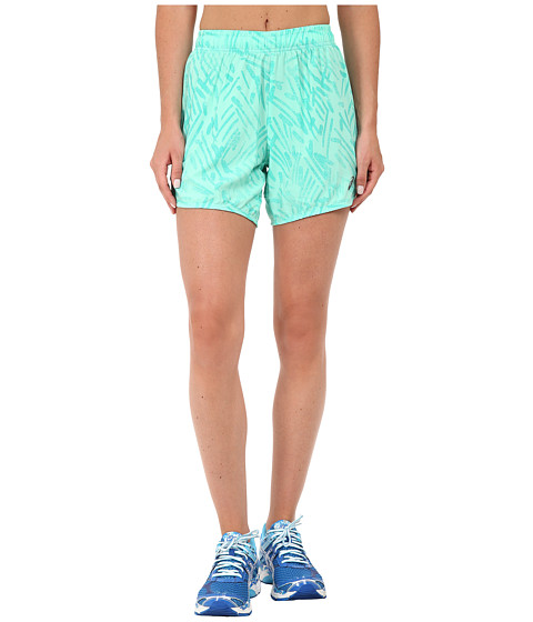 ASICS - Performance Run Woven Short 5.5 (Aqua Mint Palm) Women's Workout