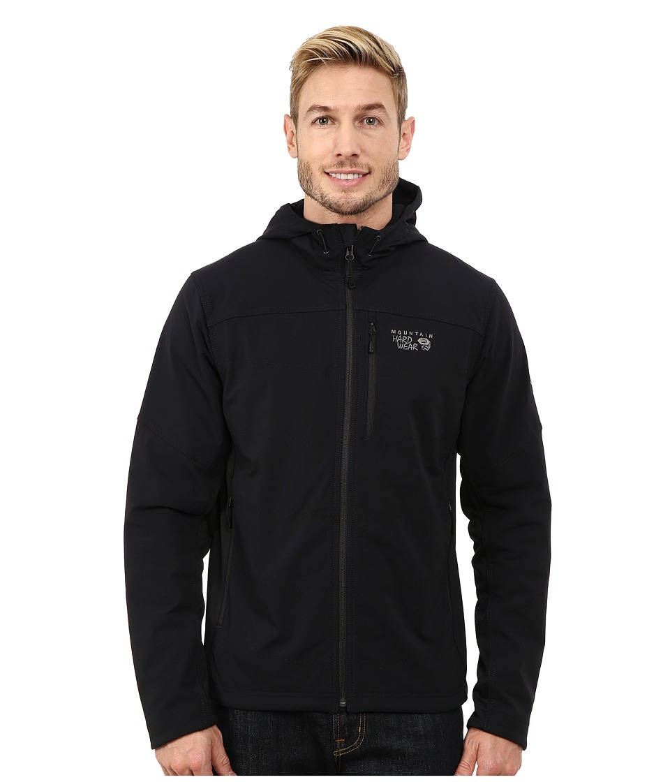 Mountain Hardwear - Ruffner Hybrid Hooded Jacket (Black) Men's Coat