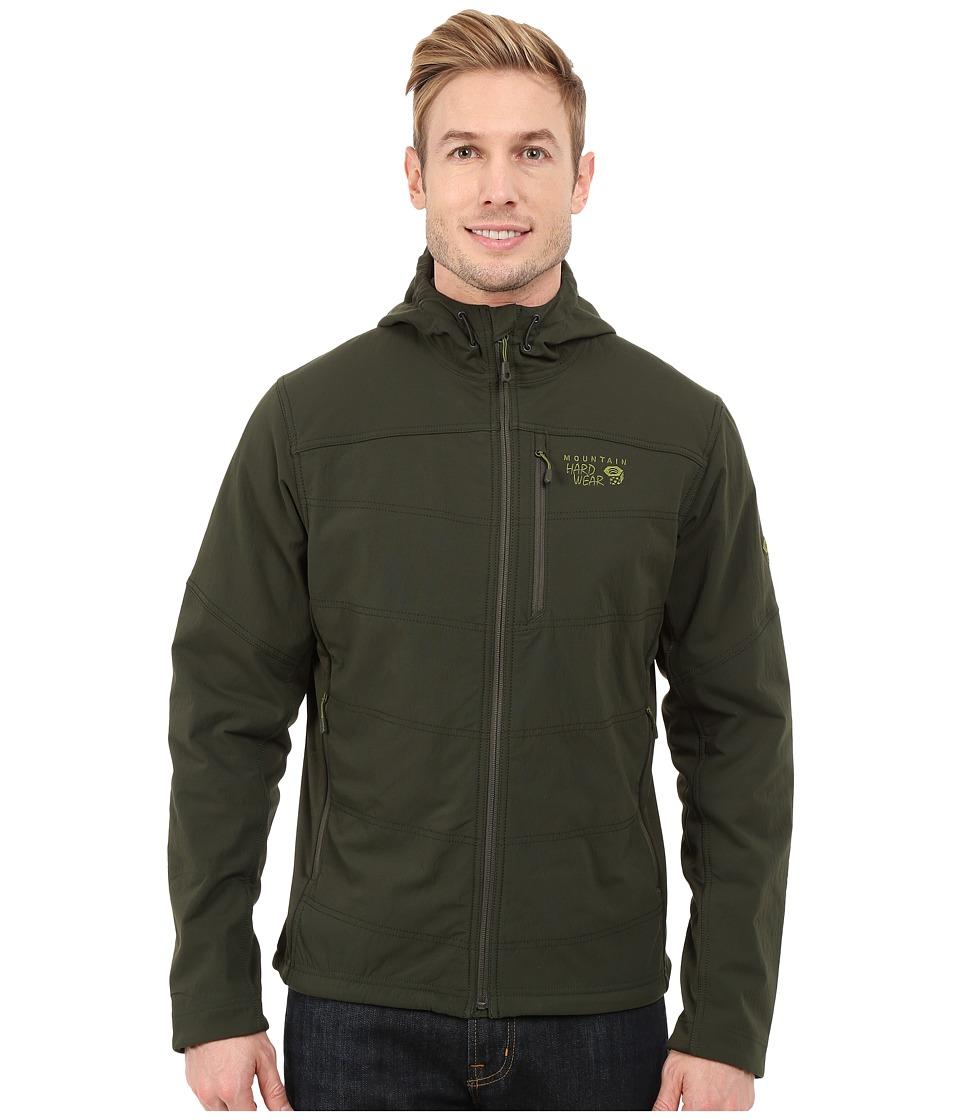 Mountain Hardwear - Ruffner Hybrid Hooded Jacket (Greenscape) Men's Coat
