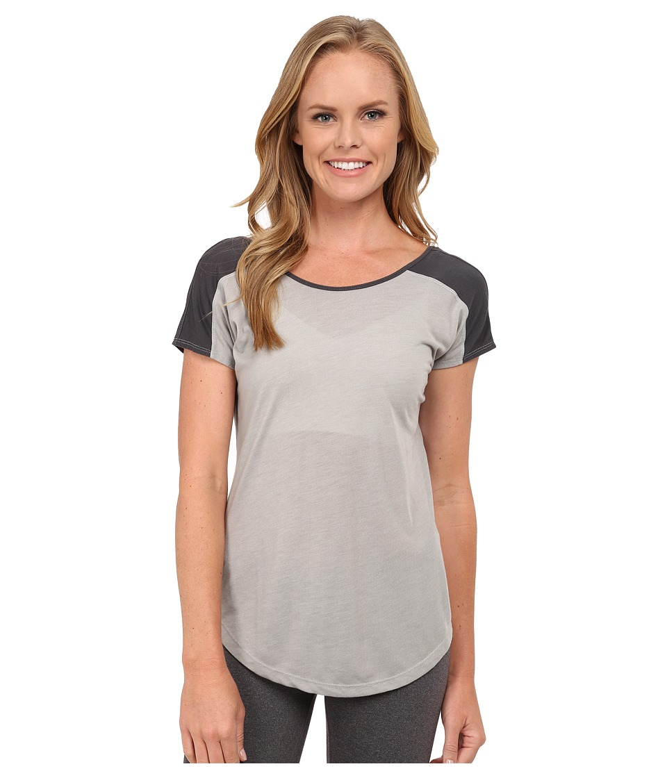 ASICS - Performance Run Relaxed Short Sleeve (Light Heather Grey/Dark Grey) Women's Workout