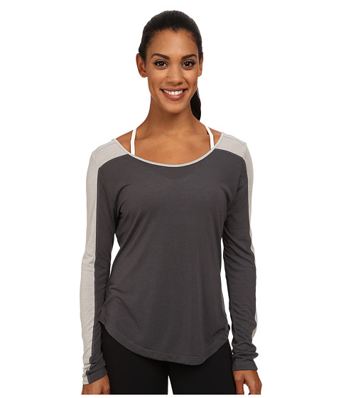 ASICS - Performance Run Relaxed Long Sleeve (Dark Grey/Light Grey Heather) Women's Workout