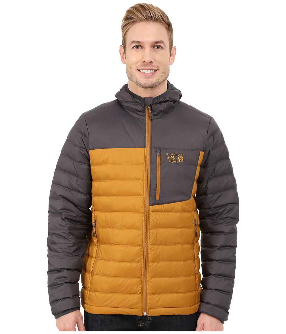 Mountain Hardwear - Dynotherm Hooded Down Jacket (Underbrush/Shark) Men's Coat