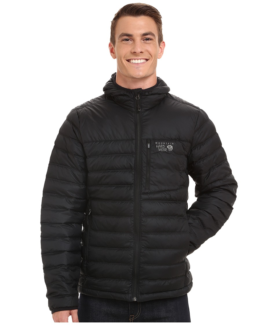 Mountain Hardwear - Dynotherm Hooded Down Jacket (Black) Men's Coat