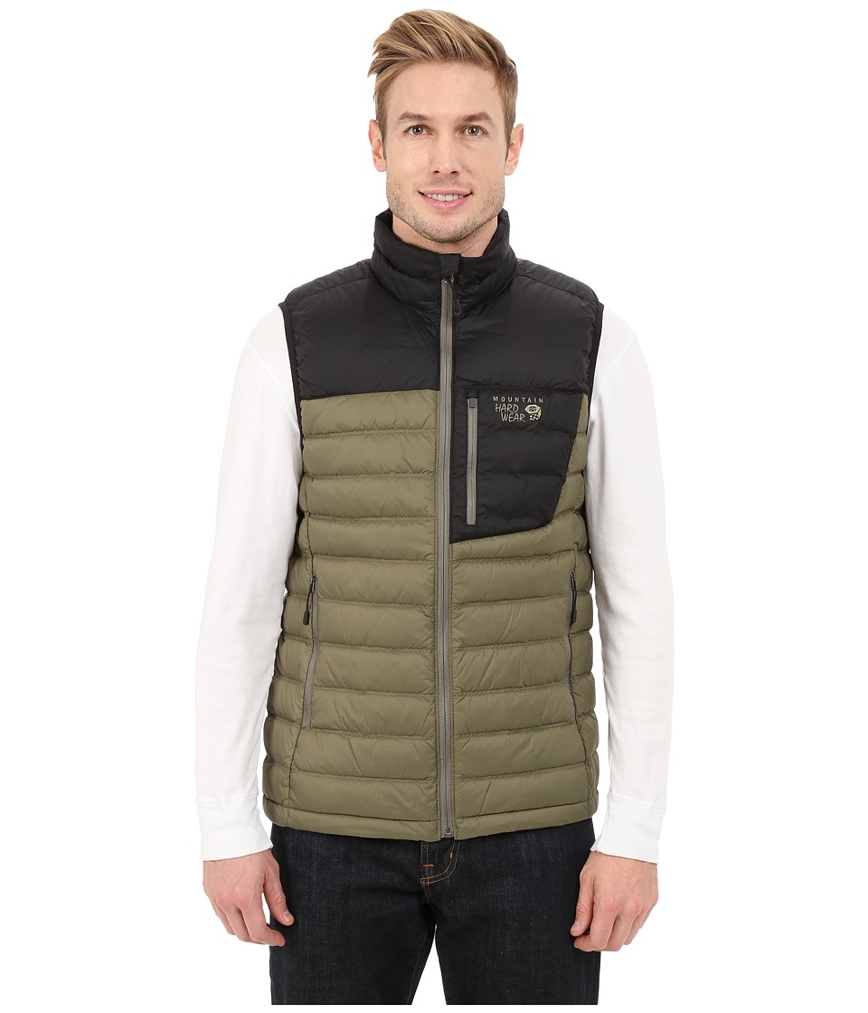 Mountain Hardwear - Dynotherm Down Vest (Stone Green/Black) Men's Coat