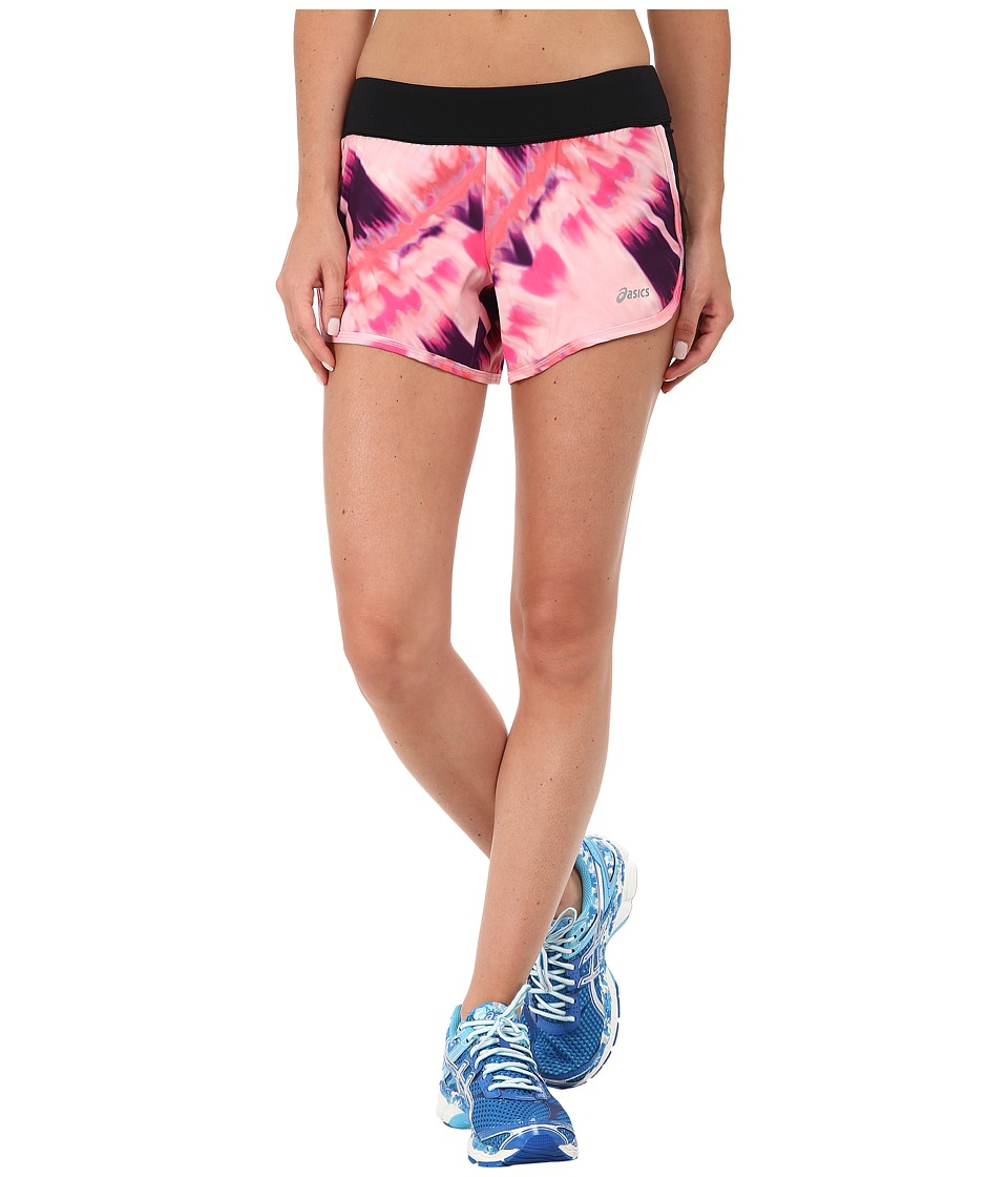 ASICS - Everysport Short (Coral Abstract Print) Women's Workout