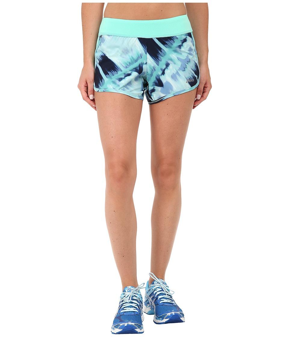 ASICS - Everysport Short (Mint Abstract Print) Women's Workout