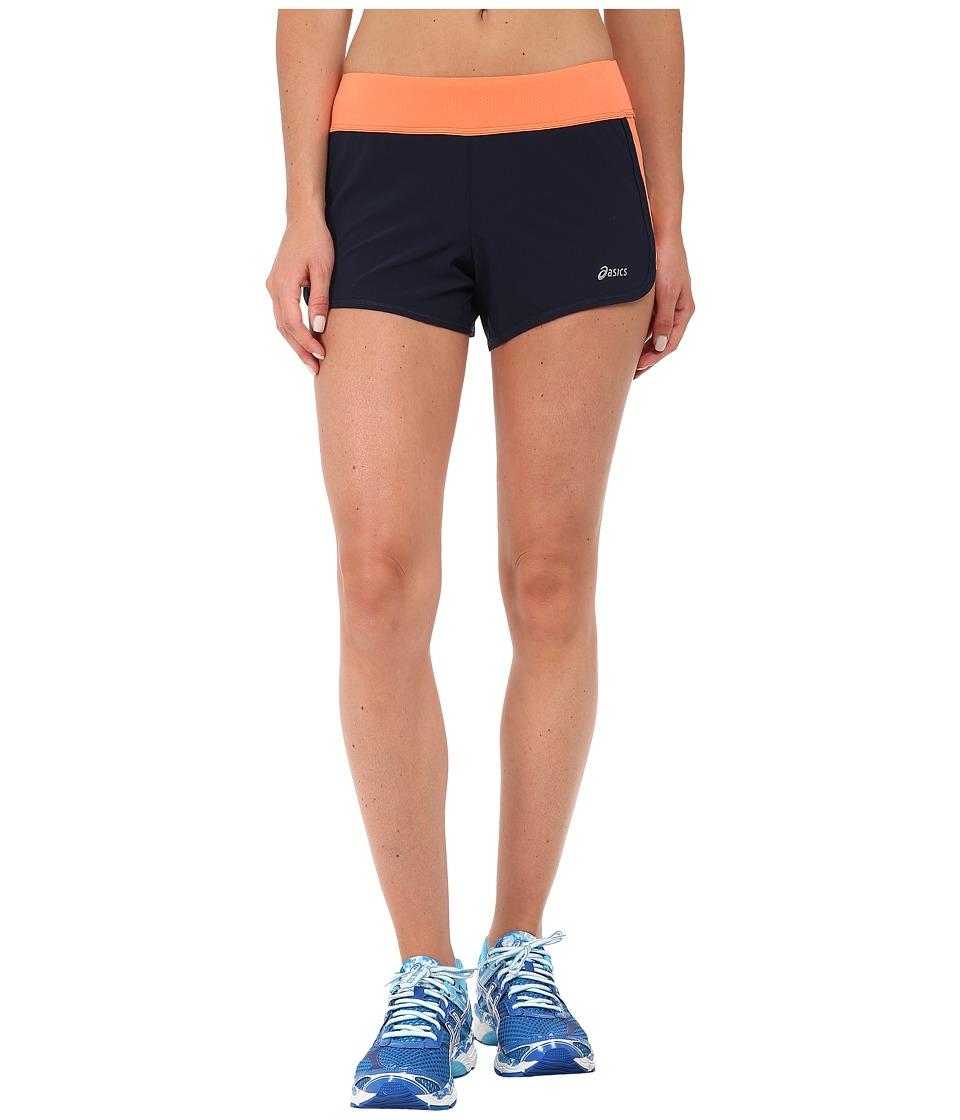 ASICS - Everysport Short (Dark Cobalt/Living Coral) Women's Workout