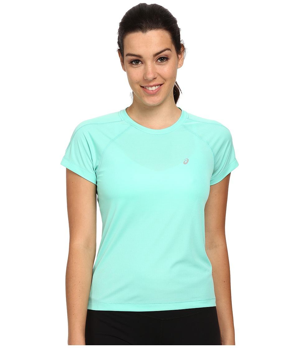 ASICS - Performance Run Core Short Sleeve Top (Aqua Mint) Women's Workout