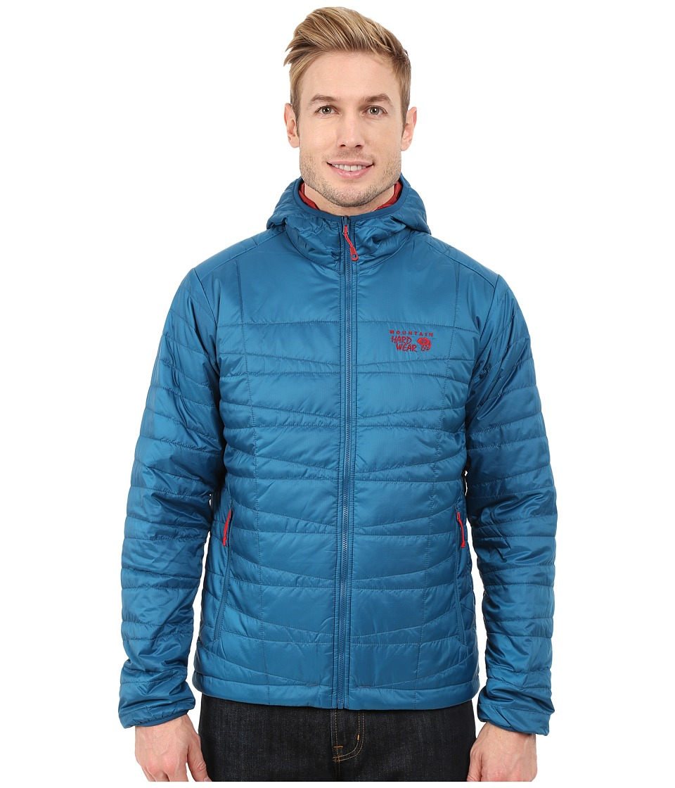 Mountain Hardwear - Switch Flip Hooded Jacket (Phoenix Blue/Smolder Red) Men's Coat