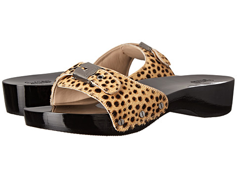 Dr. Scholl's - Original - Original Collection (Tan/Black Ponyhair) Women's Slide Shoes