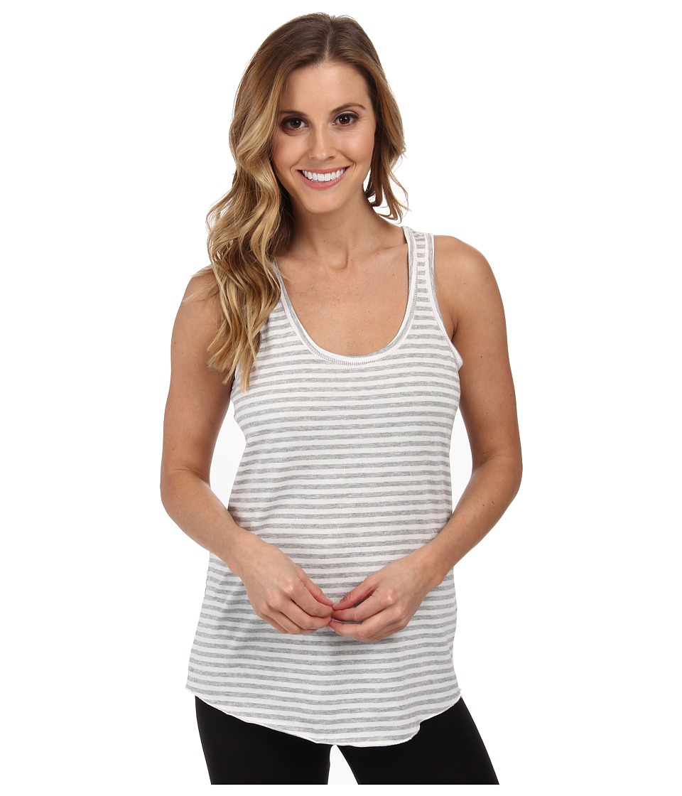 P.J. Salvage - Heather Grey/White Striped Racer Sleep Tank (Heather Grey) Women