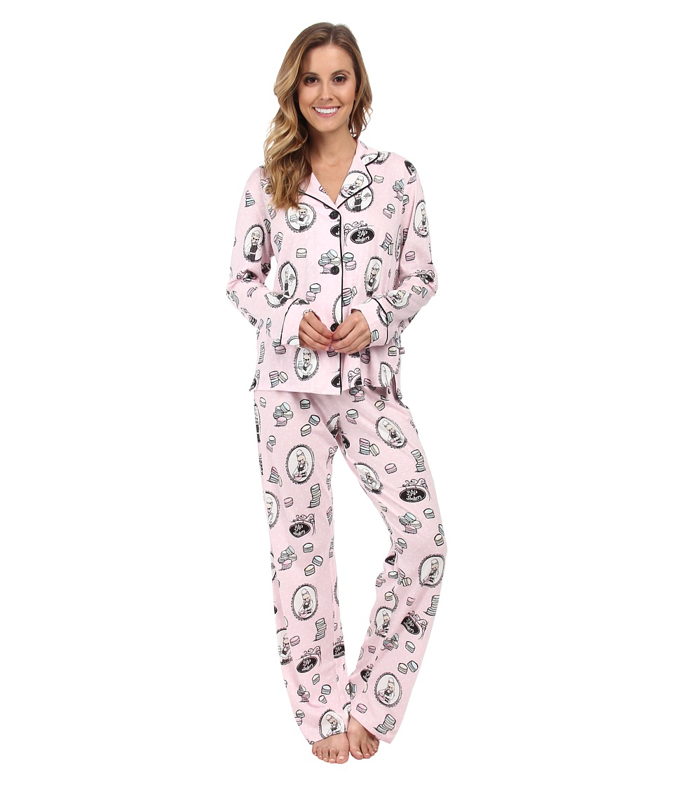P.J. Salvage - Lily's Bakery Print PJ Set (Pink) Women's Pajama Sets