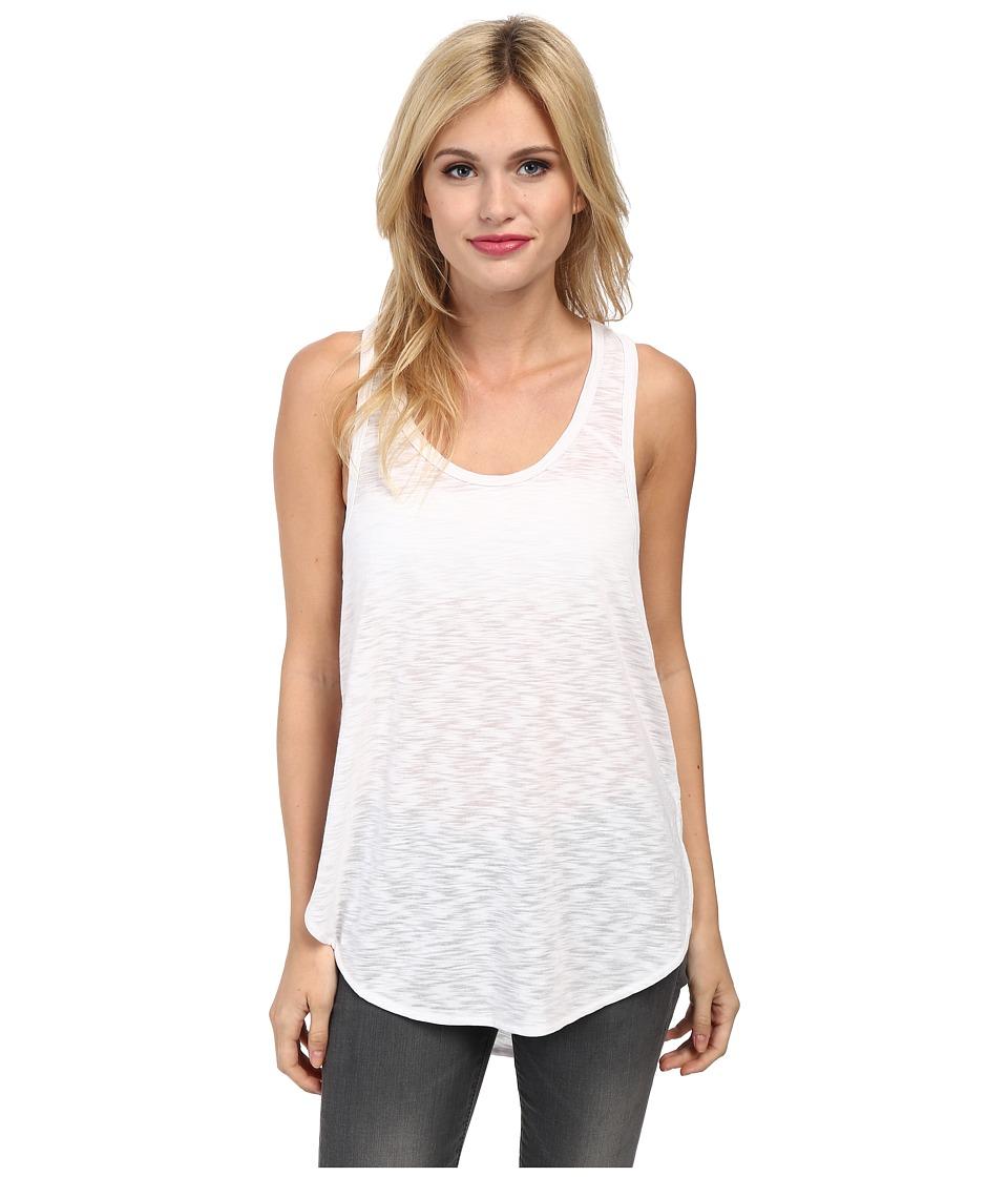 LNA - Skinny Curve Tank Top (White) Women's Sleeveless