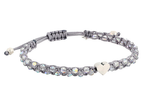 Chan Luu - Adjustable Single w/ Heart Charm (Crystal AB/Sleet) Bracelet