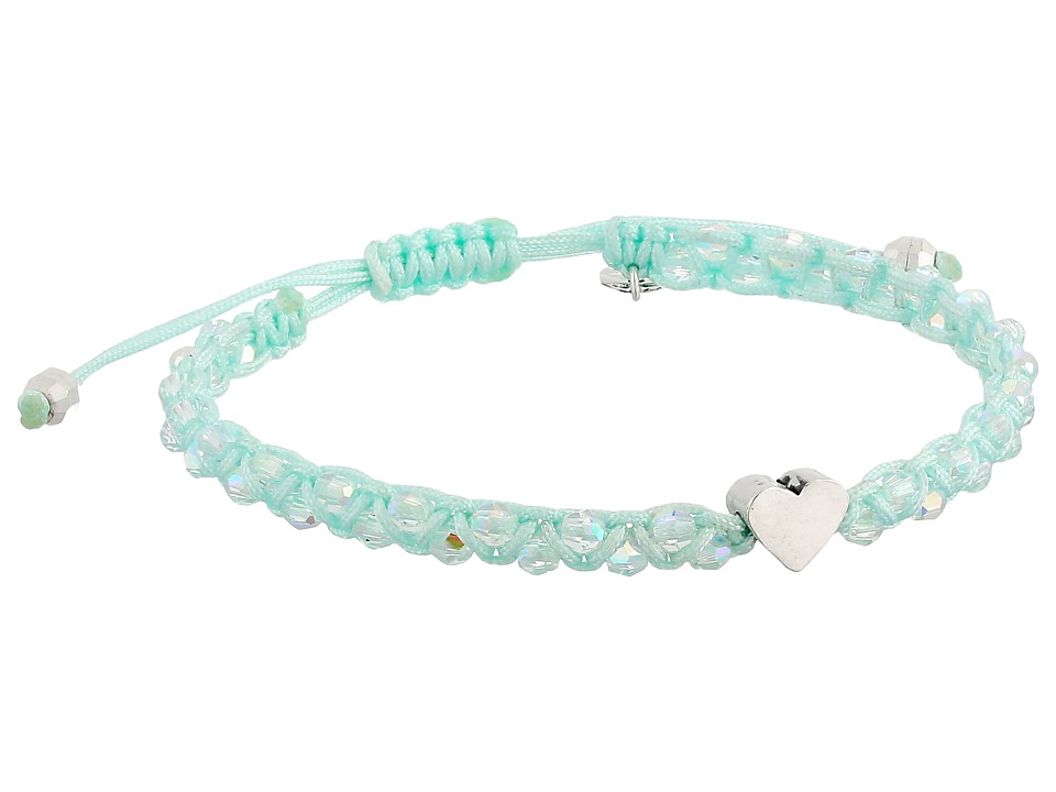Chan Luu - Adjustable Single w/ Heart Charm (Crystal AB/Honeydew) Bracelet