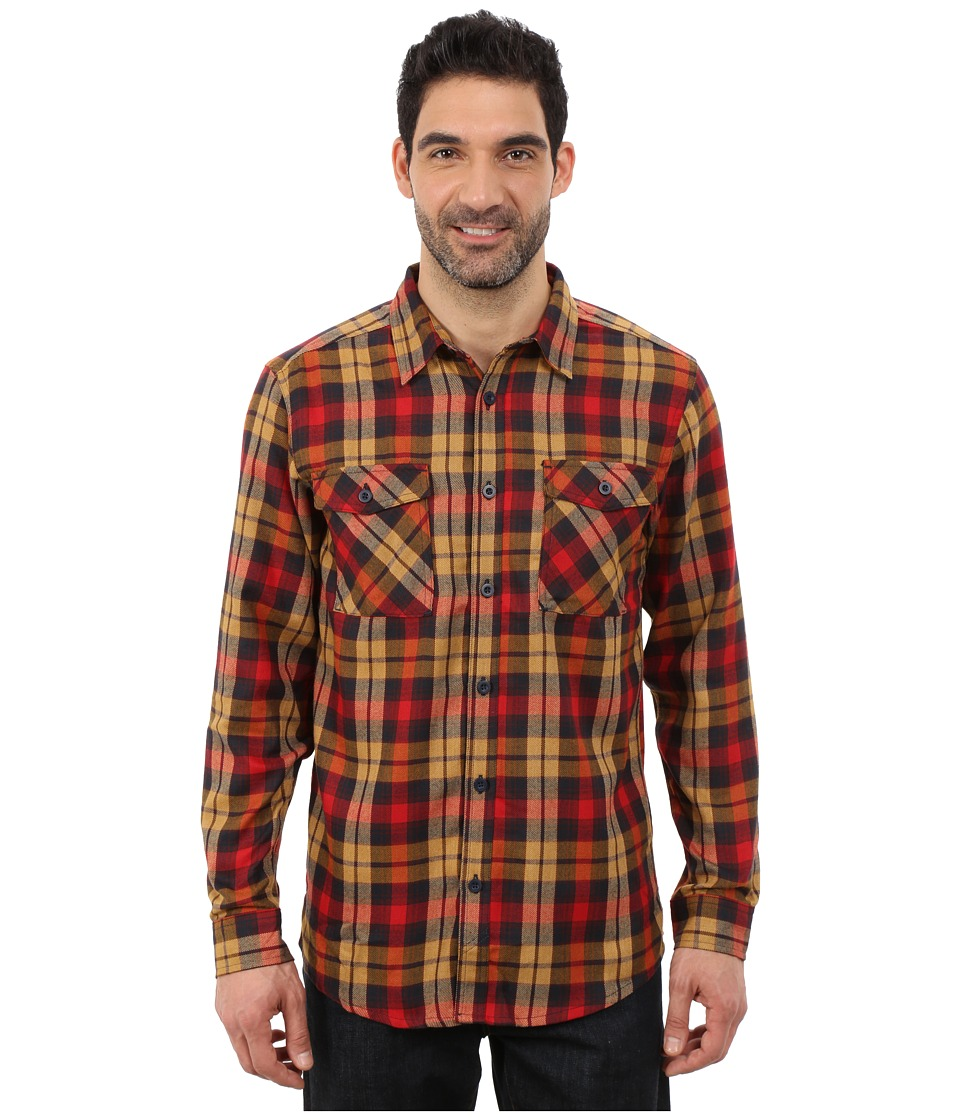Mountain Hardwear - Trekkin Flannel Long Sleeve Shirt (Rocket) Men's Long Sleeve Button Up