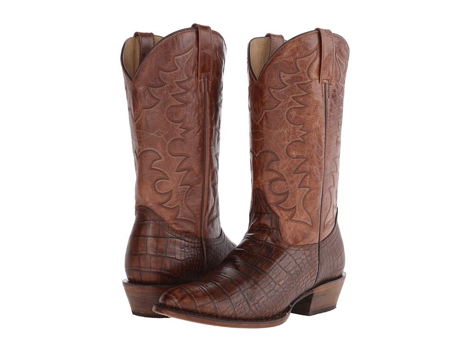 Roper - Croco R (Brown) Cowboy Boots