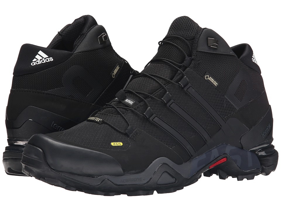 adidas Outdoor - Terrex Fast R Mid GTX (Black/Dark Grey/White) Men's Shoes