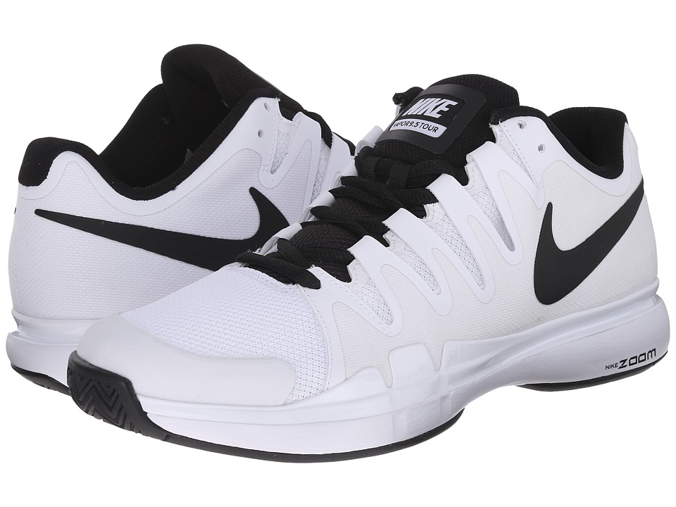 Nike - Zoom Vapor 9.5 Tour (White/Black/Black) Men's Tennis Shoes