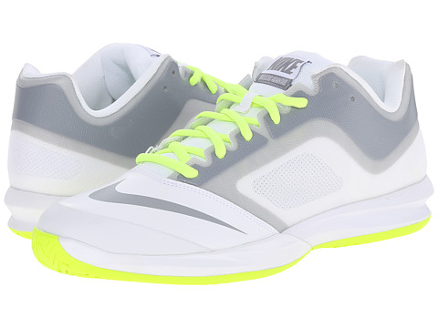 Nike - DF Ballistec Advantage (White/Volt/Stealth) Men's Tennis Shoes