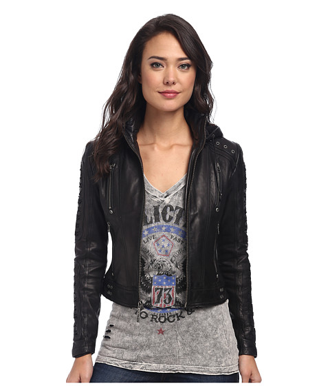 Affliction - Axis Jacket (Black) Women's Coat
