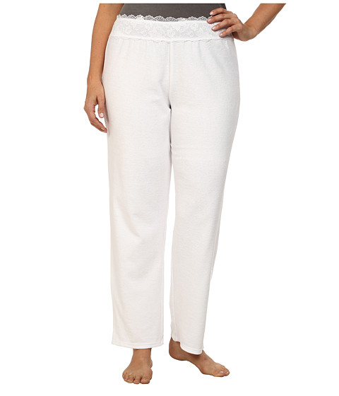 Betsey Johnson - Plus Size Baby Terry Pants (Sonic White) Women