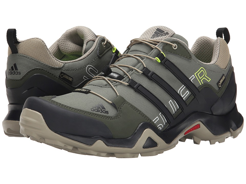 adidas Outdoor - Terrex Swift R GTX (Base Green/Black/Tech Beige) Men's Shoes
