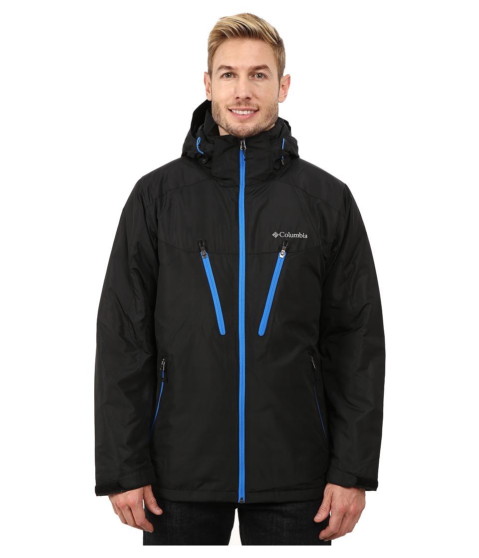 Columbia - Antimony IV Jacket (Black/Hyper Blue Zips) Men's Coat