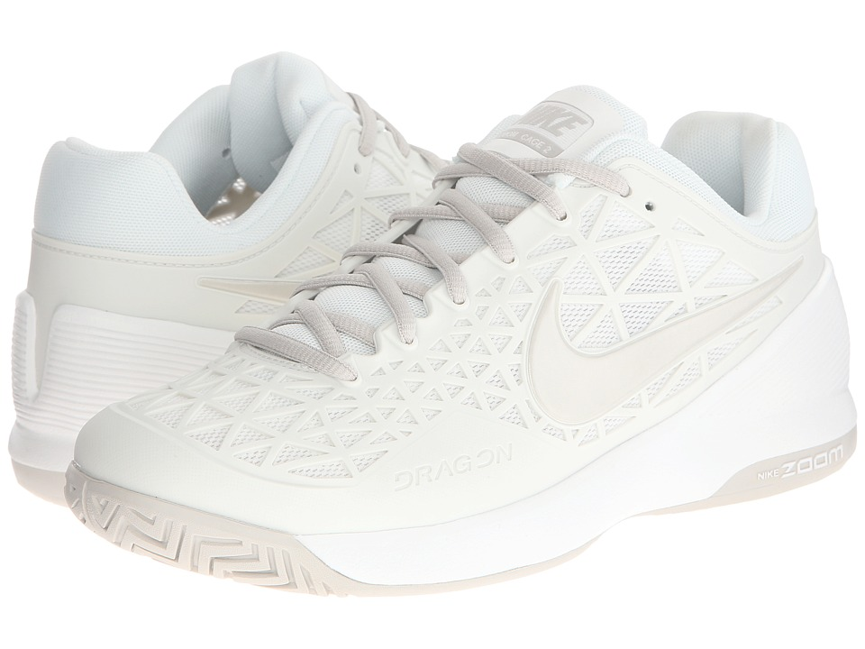 Nike - Zoom Cage 2 (Summit White/Light Bone) Women's Tennis Shoes