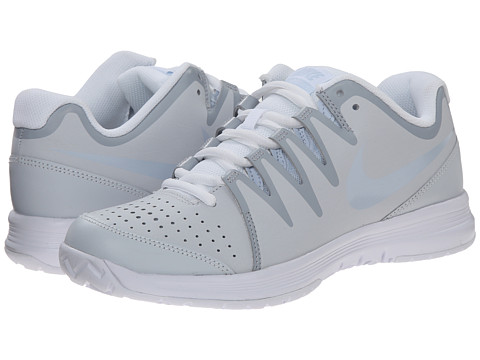 Nike - Vapor Court (Pure Platinum/White/Porpoise) Women's Tennis Shoes