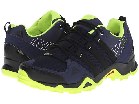 adidas Outdoor - AX 2 GTX (Midnight Grey/Black/Solar Yellow) Men's Shoes