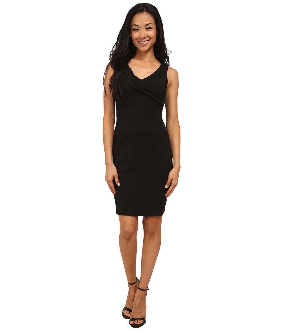 NYDJ - Penelope Stretch Crepe Sheath (Black) Women's Dress