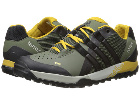 adidas Outdoor - Terrex Trail Cross (Base Green/Black/Raw Ochre) Men