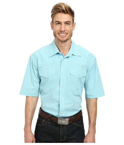 Roper - 9791 Mini Check (Blue) Men's Clothing