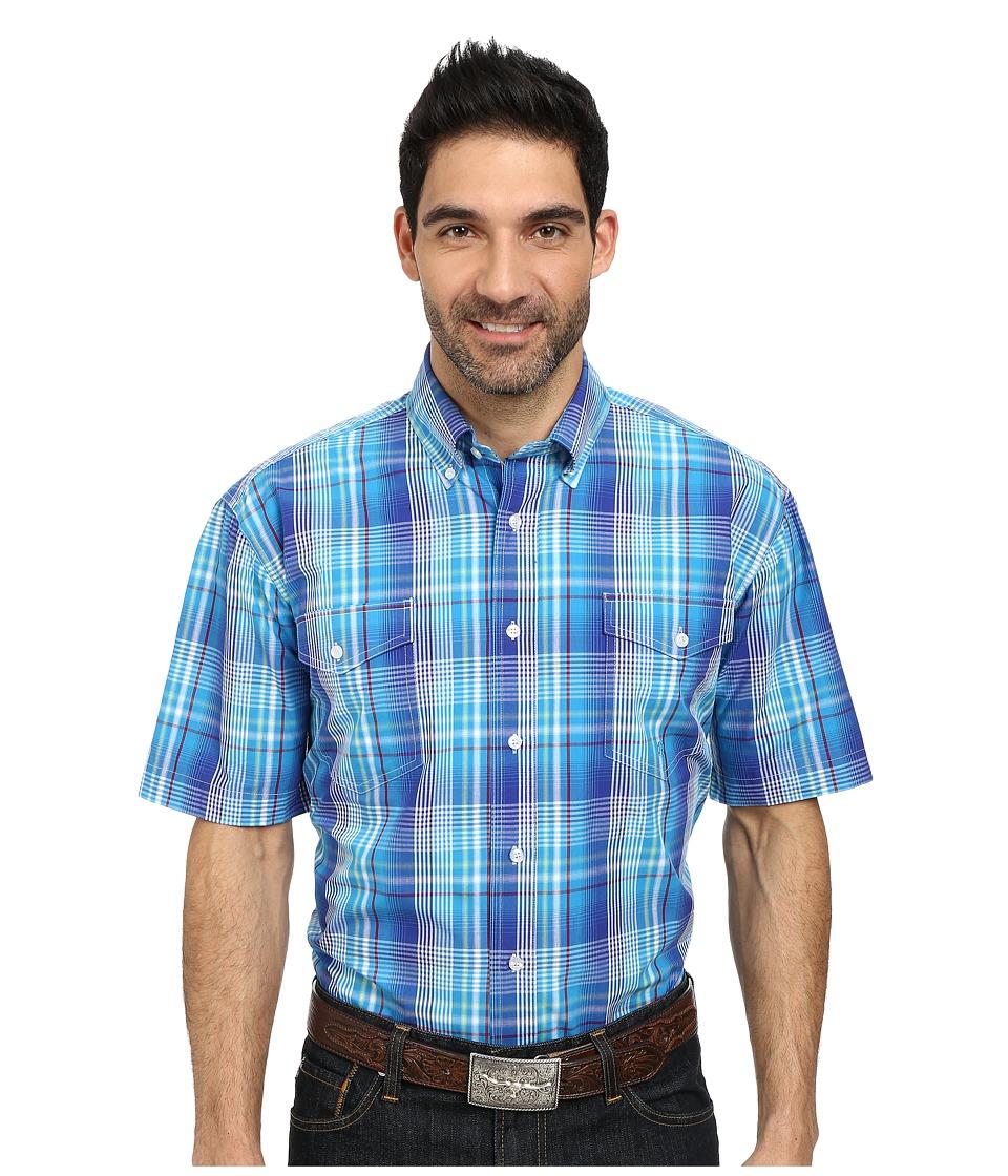 Roper - 9762 Breeze Plaid (Blue) Men's Clothing