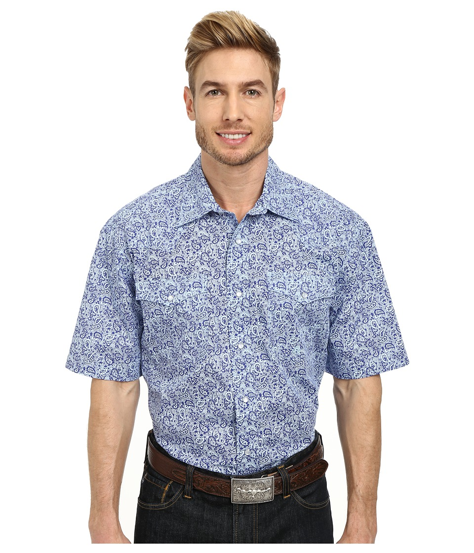 Roper - 9767 Small Vintage Paisley (Blue) Men's Clothing
