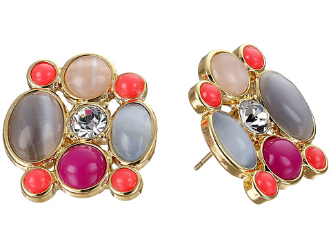 Kate Spade New York - Bashful Blossom Statement Studs Earrings (Multi) Earring