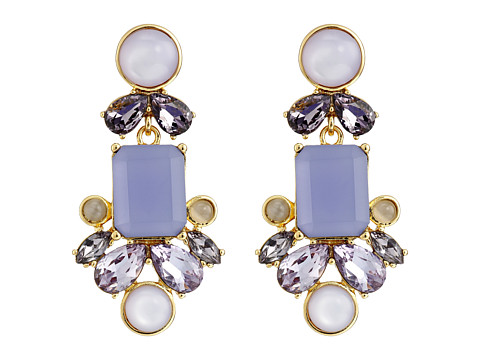 Kate Spade New York - Glitzy Spritz Statement Earrings (Lilac Multi) Earring