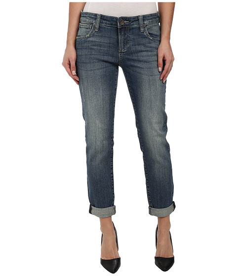 KUT from the Kloth - Adele Slouchy Boyfriend in Consort Wash/Medium Base Wash (Consort Wash/Medium Base Wash) Women