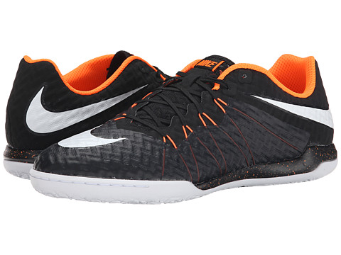 Nike - Hypervenomx Finale II Street IC (Black/Total Orange/White) Men's Soccer Shoes