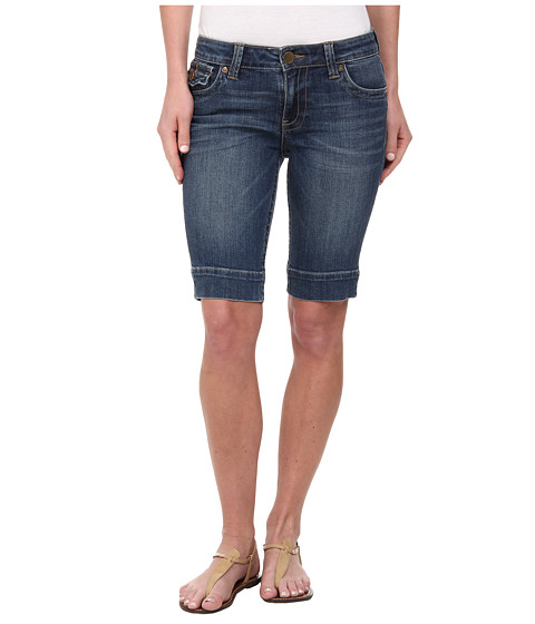 KUT from the Kloth - Natalie Bermuda (Successful Wash/Dark Stone Base Wash) Women's Shorts