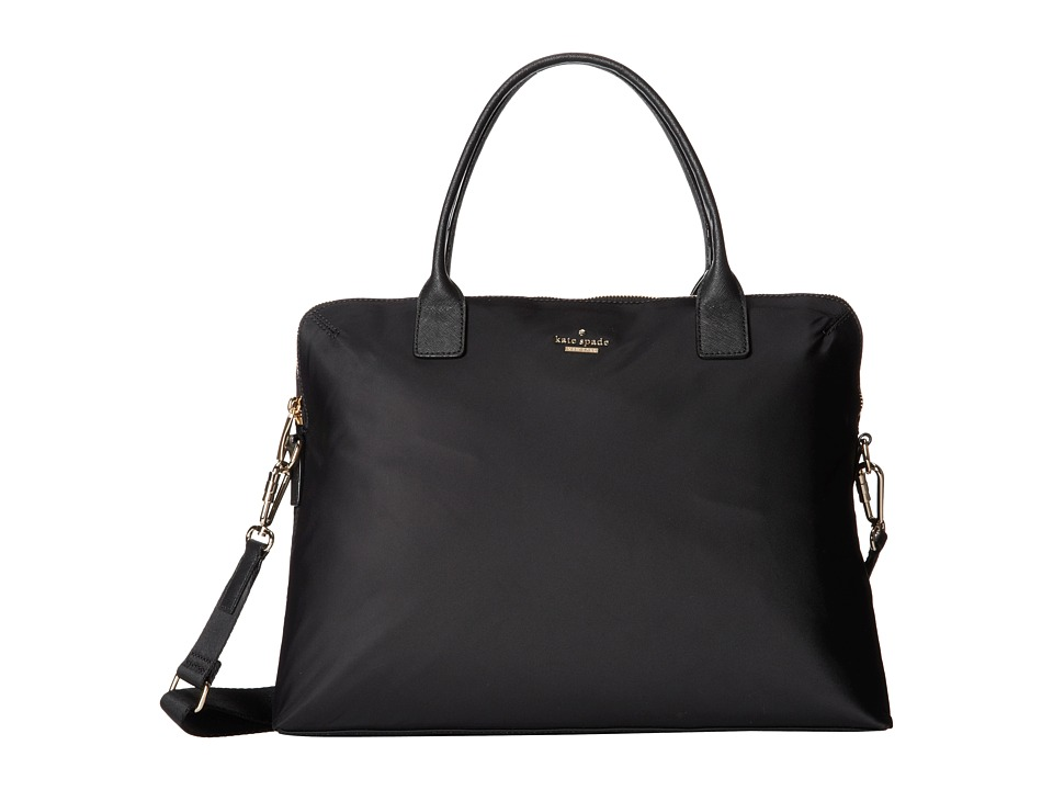 Kate Spade New York - Classic Nylon Daveney (Black) Satchel Handbags